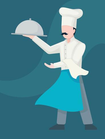 Koele chef-kok vector