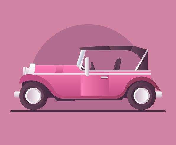 Retro auto illustratie vector