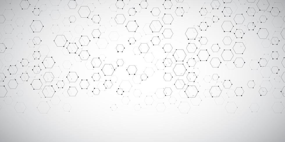 Bannerachtergrond met abstract verbindingenontwerp vector