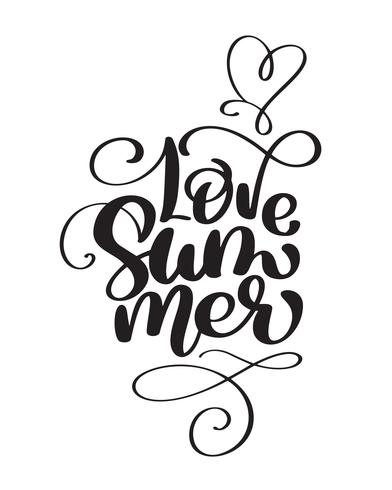 Hand getekend liefde zomer vector