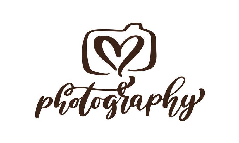 camera fotografie logo pictogram vector sjabloon kalligrafische inscriptie fotografie tekst geïsoleerd op een witte achtergrond
