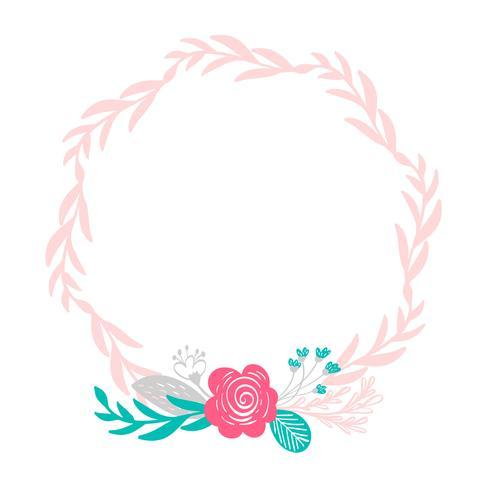 bloemenkroon boeketbloemen vector