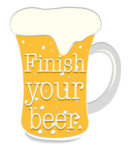 Vers bier vector
