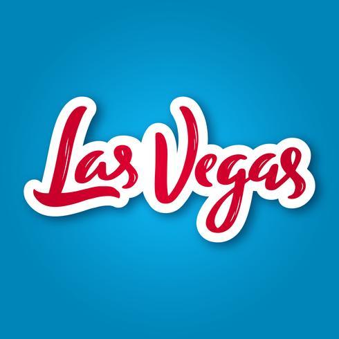 Las Vegas - hand getrokken belettering zin. vector
