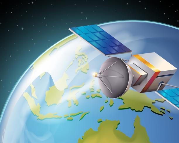 Een satelliet vector
