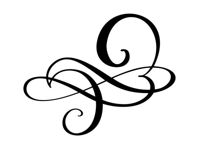 Hand getrokken liefde grens bloeien scheidingslijn Kalligrafie designer elementen. Vector uitstekende huwelijksillustratie die op witte achtergrond wordt geïsoleerd