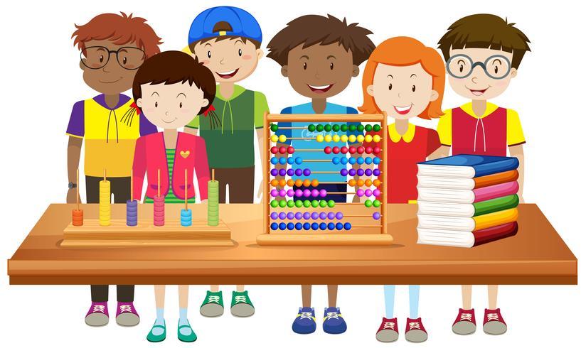 Kinderen leren op school vector