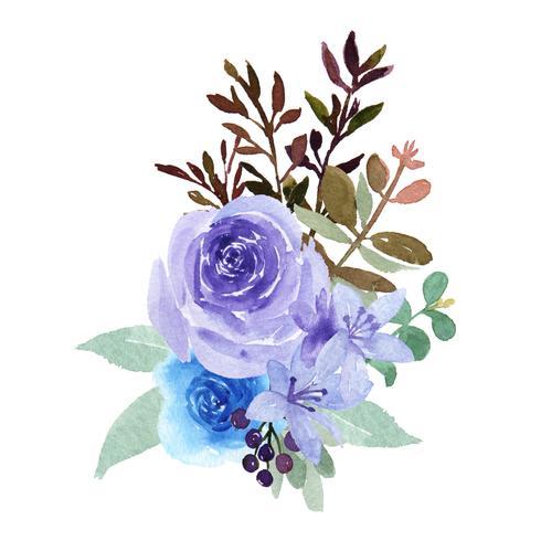Aquarel boeketten florals handgeschilderde weelderige bloemen llustration vintage stijl aquarelle geïsoleerd op een witte achtergrond. Ontwerp decor voor kaart, bewaar de datum, kaarten van de huwelijksuitnodiging, affiche, banner vector
