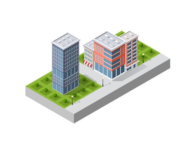 illustratie van een moderne stad vector