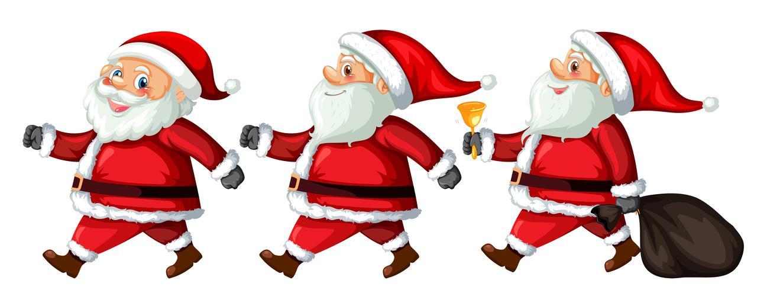 Een set van de Kerstman met verschillende actie vector