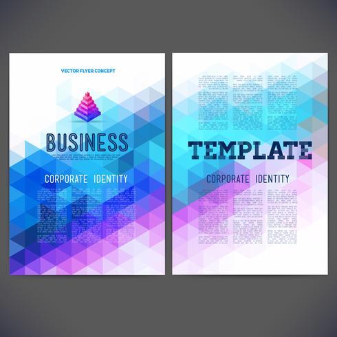 Abstract vector sjabloonontwerp, brochure, websites, pagina, folder, met kleurrijke geometrische driehoekige achtergronden