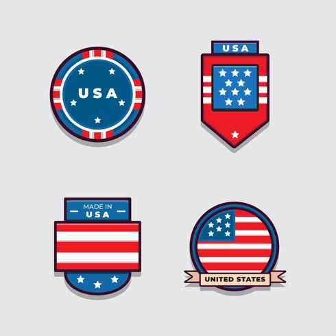 Amerikaanse vlag instellen Vector