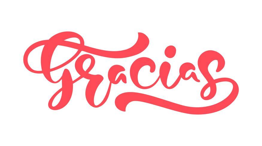"""""""Gracias"""" Vector tekst in het Spaans (""""Dank u wel"""")"""