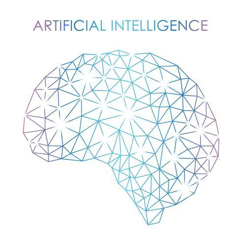 Kunstmatige intelligentie concept illustratie. vector