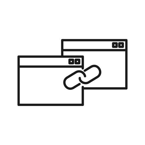Link Building SEO lijn pictogrammen vector