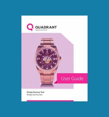 Creative Corporate User Manual Ontwerpsjabloon vector