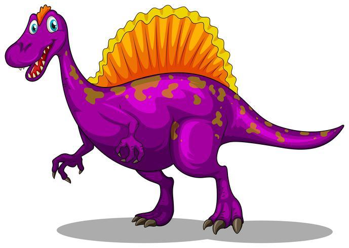 Paarse dinosaurus met scherpe klauwen vector