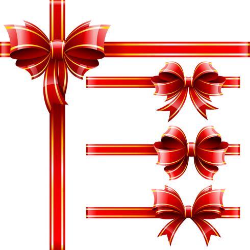 rode geschenkbaws vector