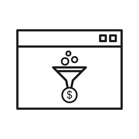 Webconversie SEO lijn pictogram vector