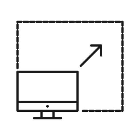 Schaalbare computing SEO lijn pictogrammen vector