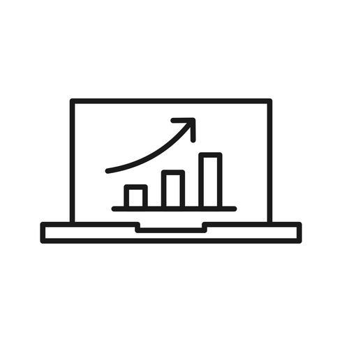 SEO-promotie SEO lijn pictogram vector