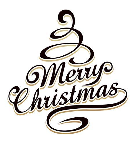 Kerstboom vormige typografie vector