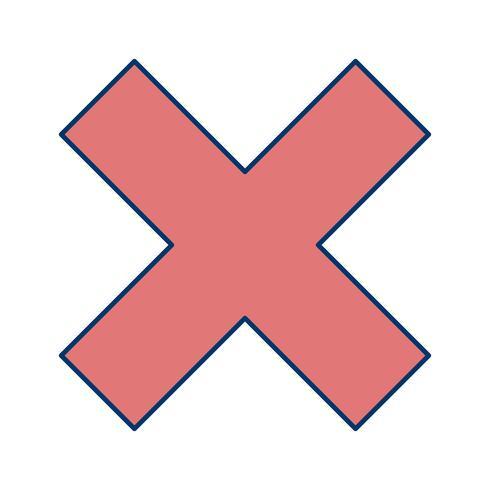 Vectorpictogram annuleren vector