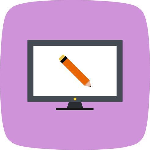 Online onderwijs Vector Icon