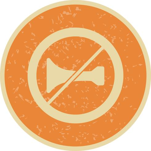 Vector Hoorbare waarschuwingsborden verboden Icon