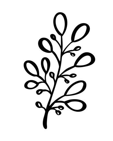 Hand geschetst vector vintage floral elementen - lauweren verlaat bloem wervelingen en veren. Wild en vrij. Perfect voor uitnodigingen wenskaarten, citaten blogs bruiloft frames, posters