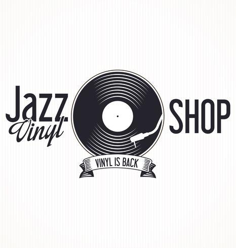 Jazz vinyl record retro achtergrond vector