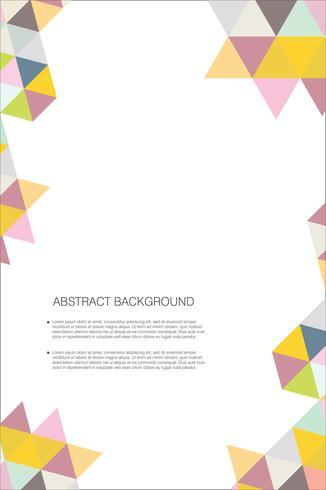 Abstracte geometrisch ontwerpmalplaatje als achtergrond vector