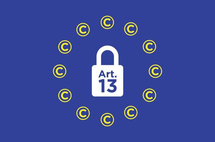 Artikel 13 conceptuele illustratie. vector