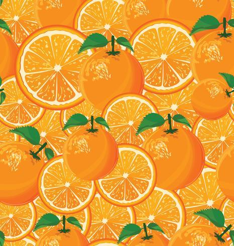 Een naadloze achtergrond van sinaasappelen vector