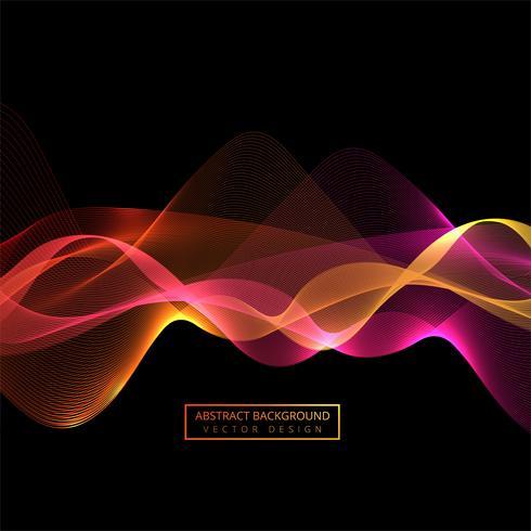 Abstracte kleurrijke rook golf achtergrond vector