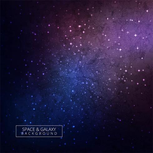 Galaxy achtergrond kleurrijk ontwerp vector