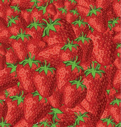 Naadloze achtergrond van aardbeien vector