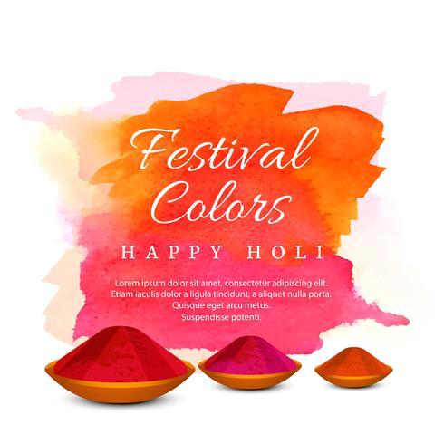 illustratie van kleurrijke gelukkige Holi achtergrond vector
