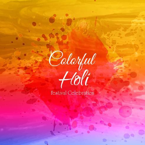 Gelukkig Holi Indian-lentefestival van kleurenachtergrond vector
