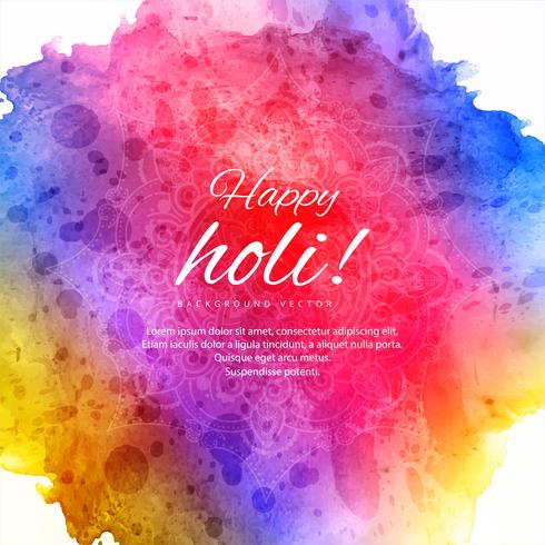 Vier kleurrijke Holi-achtergrond vector