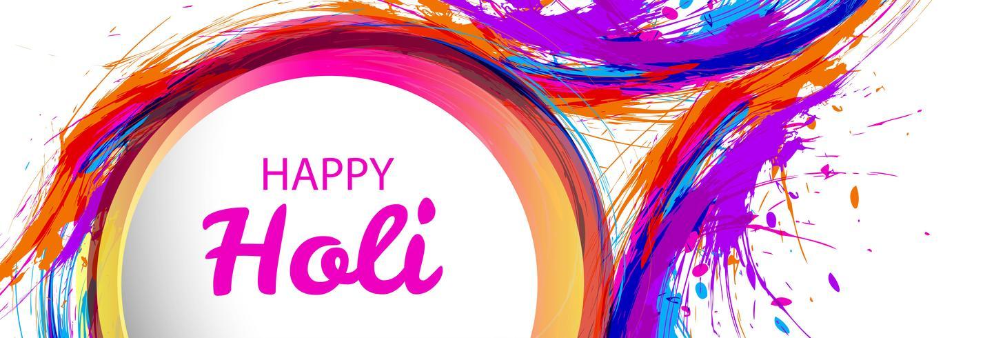 Mooie holi festival viering banner vector