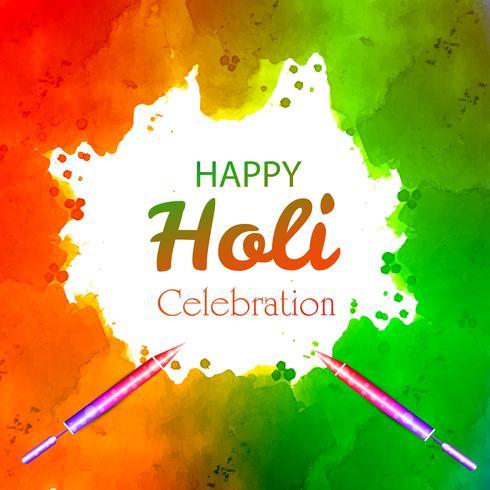 Festival van kleuren gelukkig holi viering kaart vector