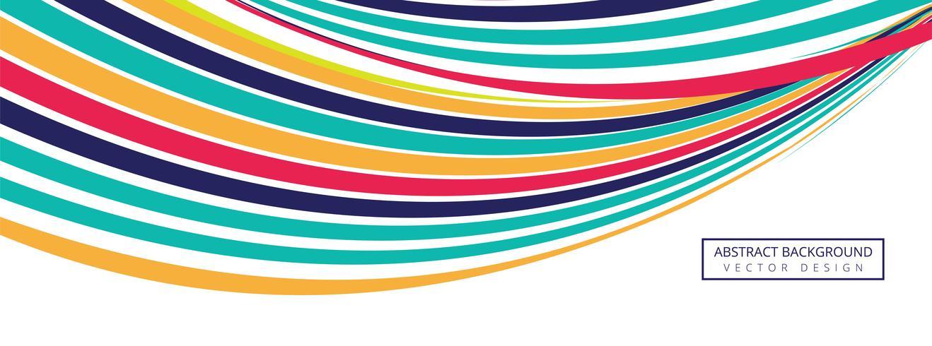 Elegante kleurrijke creatieve golfvector als achtergrond vector