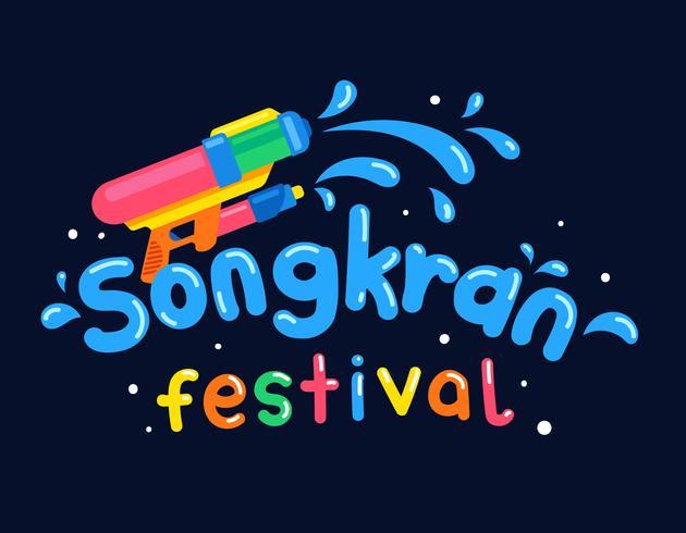 songkran thai festival vector
