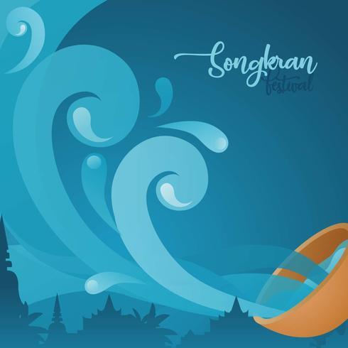 Songkran achtergrond vector