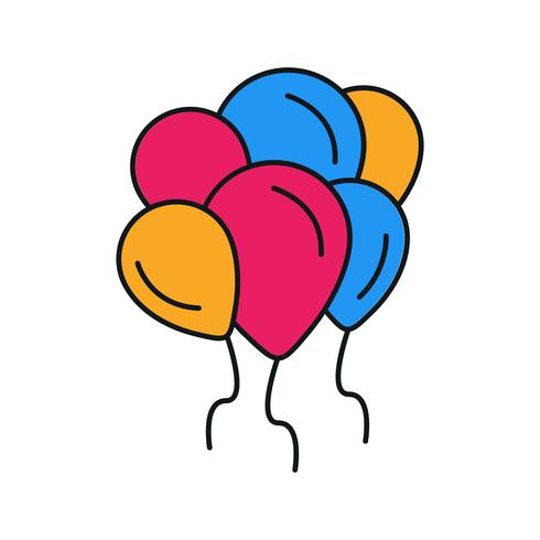 vector baloons pictogram