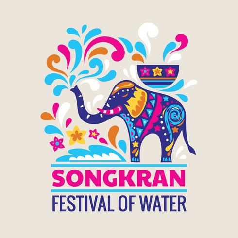 Gelukkig Songkran Day Thailand-festival vector