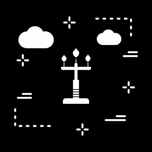 vector lamp pictogram