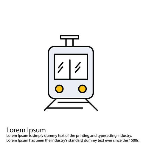 Vector trein pictogram
