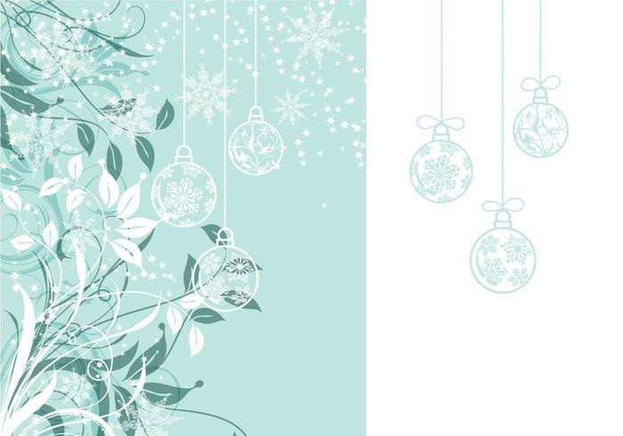 Bloemen Kerst Wallpaper en Vector Pack